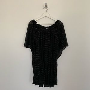 Halston Heritage silk black mini dress or tunic